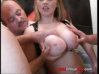Busty German Teen takes dicks in holes