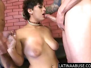 18 year old with big tits throated
