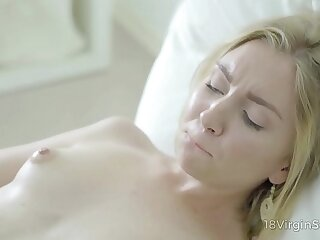 18 Virgin Sex - Sweetie fills her lonely day with fantastic orgasms