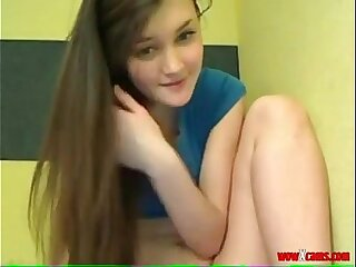 Hot teen strip and suck it infront of camera - Fuckitube.com