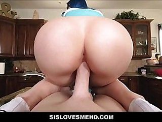 Young Teen Step Sister With Big Tits Family Sex Challenge With Step Brother POV