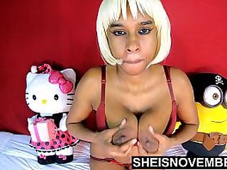 HD Huge Ebony Nipple Massive Areola Giant Rack On Petite Hot Innocent Girl Msnovember Shaking Sagging Udders Fast , Big Curvy Bomb Shells With Soft Skin Titty Jiggling On Bosom CloseUp On Beautiful Body  4k Sheisnovember